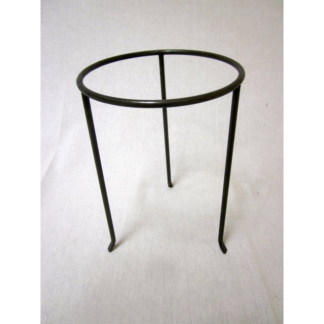 Modernist Wrought Iron Plant Stands - Set of 3 - Image 4 of 10