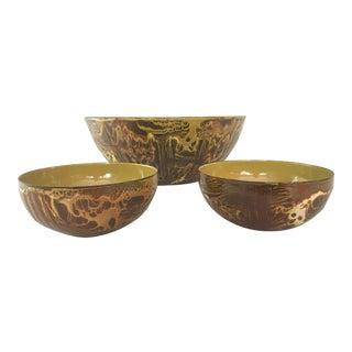 Hanova Pasadena Vintage Modern Enamel Bowls - Set of 3