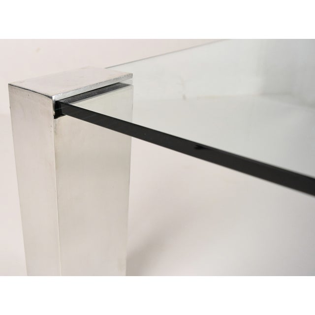 Mid-Century Modern Chrome & Glass Coffee Table - Image 6 of 6