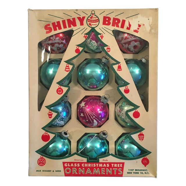 Vintage Shiny Brite Ornaments - Set of 12 - Image 1 of 9