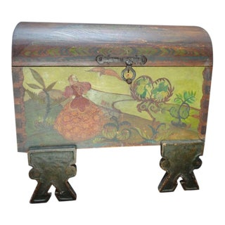 Vintage Folk Art Trunk