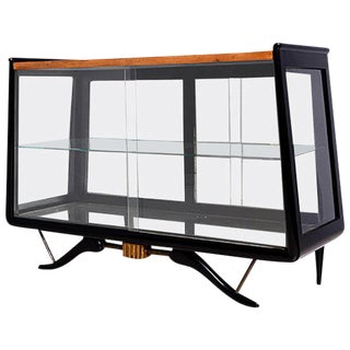 Small Credenza with Glass Doors Attributed to Eugenio Escudero