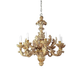 Italian Hand Carved Chandelier