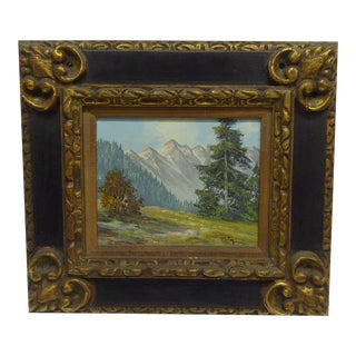 """Snow Capped Peaks"" Framed Painting"