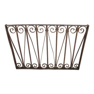 Antique Victorian Iron Gate Architectural Salvage Door