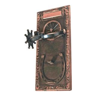 Wagon Wheel & Spur Door Knocker