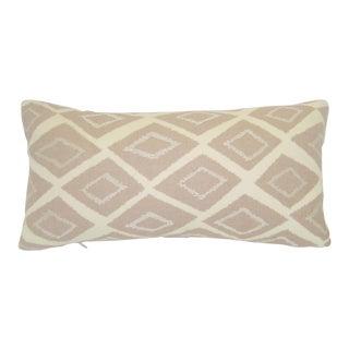 Mid-Century Geometric Pink Lumbar Pillow