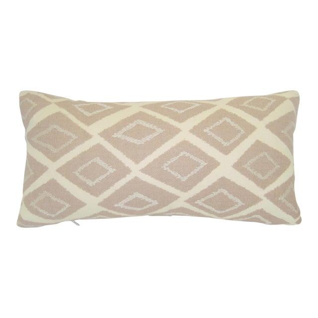 Image of Mid-Century Geometric Pink Lumbar Pillow