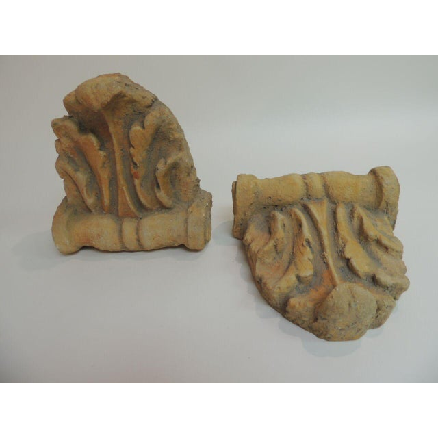 Vintage Cement Garden Brackets - A Pair - Image 3 of 6