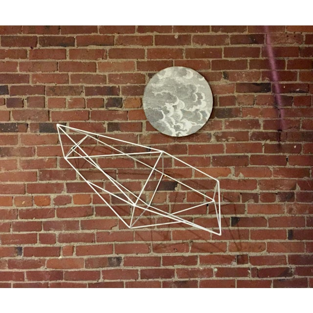 Minimalist Powder Coated Abstract Polyhedron Geometric Sculpture - Image 4 of 5
