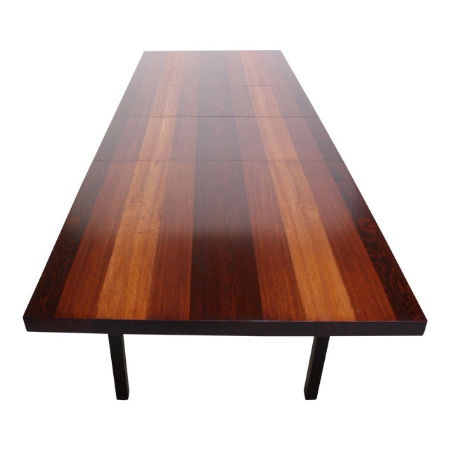 Image of Milo Baughman Mixed Wood Dining Table For Directional