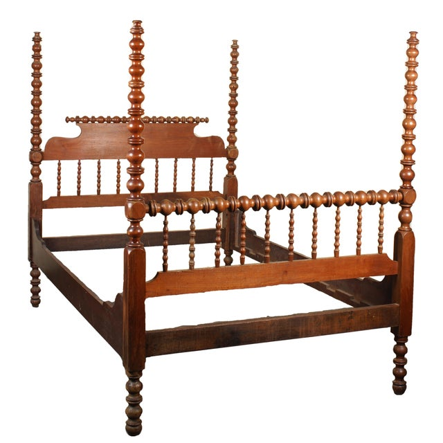 Tall Full Size Jenny Lind Spindle Bed - Image 1 of 4