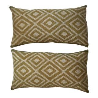Vintage Geomtic Motif Pillows - A Pair