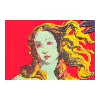 2000 Andy Warhol Birth of Venus Red Poster