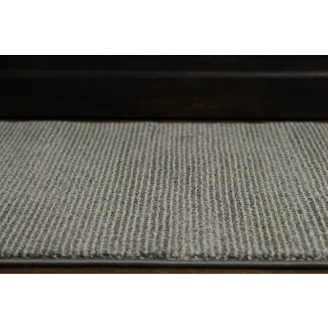 Contemporary Gray & White Striped Rug - 2'8'' x 10' - Image 4 of 6