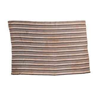 African Black & Ivory Striped Throw