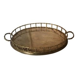 Brass Bamboo-Style Bar Tray