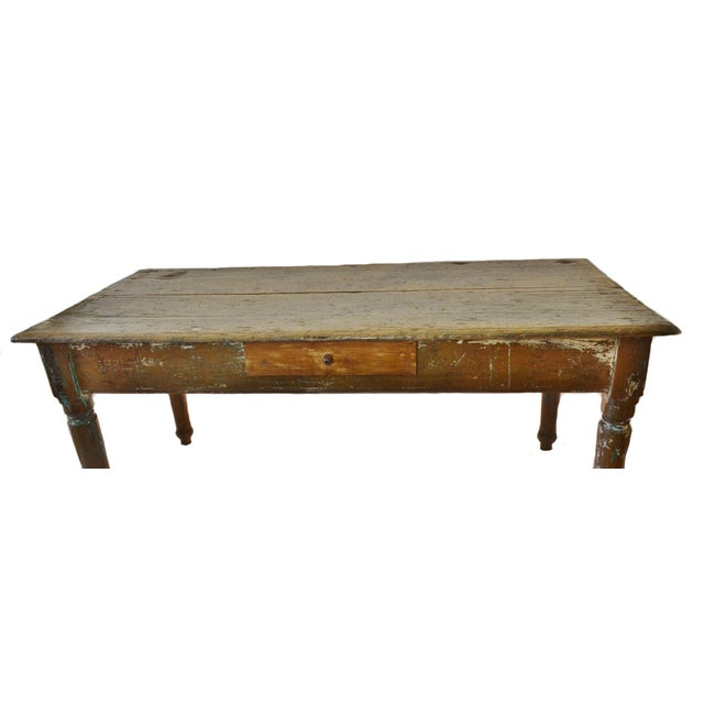 19th Century Cedar Farm Table - Image 3 of 4
