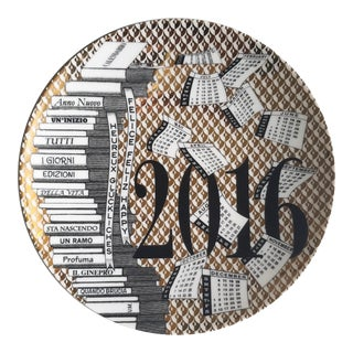 Fornasetti Calendar Plate for 2016, 49th in series. Numbered 72 of 700, Barnaba Fornasetti.