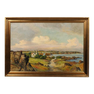 "Danish Painting ""Coastal Road into Village"""