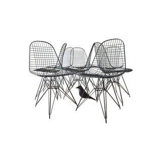 Original Eames DKR Mesh Chairs In Black