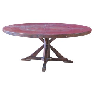Jonathan Charles Country Style Walnut Round Dining Table