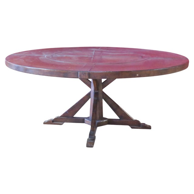 jonathan charles country style walnut round dining table chairish