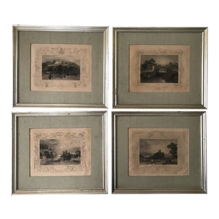 Antique Framed Prints by William Tombleson - Set of 4