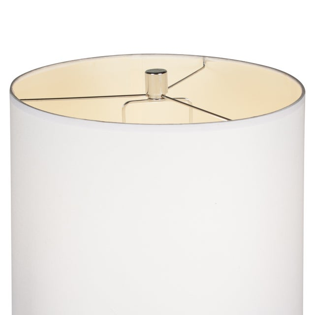 Ralph Lauren Black Leather & Chrome Table Lamp - Image 8 of 8