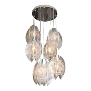1960s Modernist Acrylic and Monofilament Chandelier