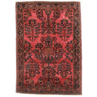 "Antique Persian Sarouk Rug - 3'5"" X 4'9"""