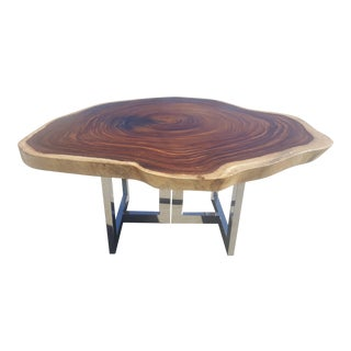 Live-Edge Round Slab Table