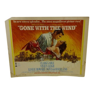 """Vintage Movie Poster """"Gone With the Wind"""" Clark Gable & Vivien Leigh - 1968"""