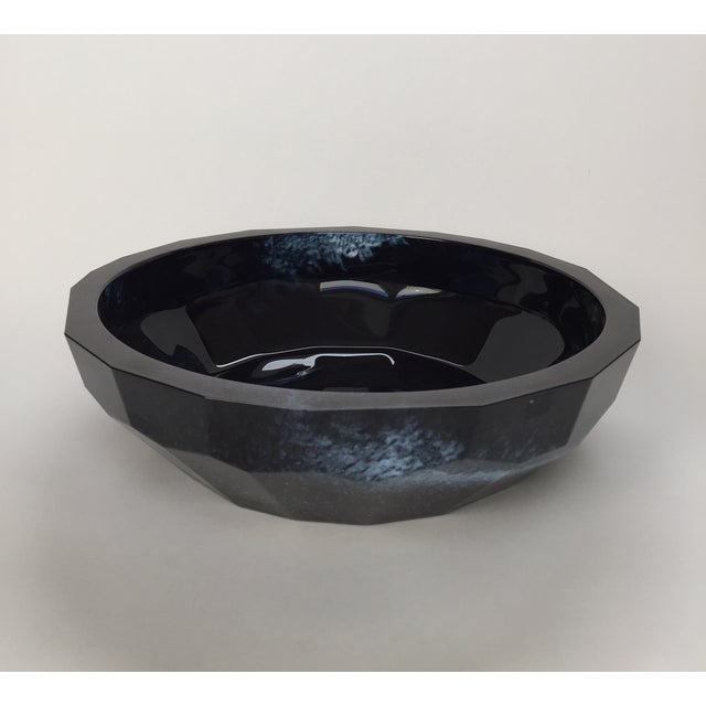 Image of Faceted Glass Bowl by Kosta Boda