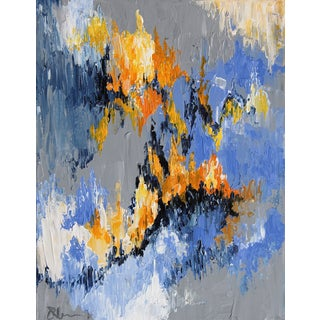 """Flame"" Abstract Painting by Celeste Plowden"
