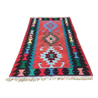 Vintage Turkish Kilim Rug - 3′8″ × 6′1″