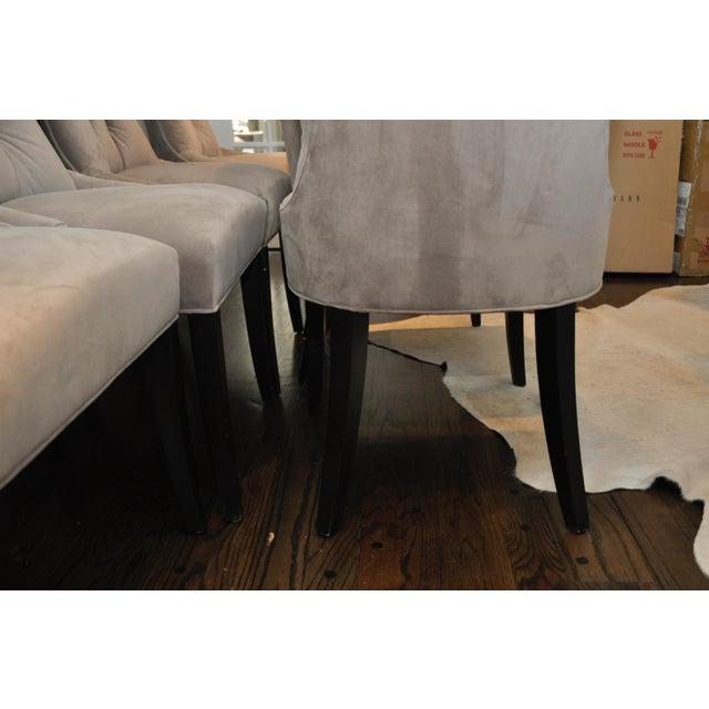 Velvet Upholstered Dining Chairs - Set of 6 - Image 8 of 8