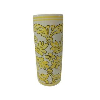 Vintage Hand-Painted Ceramic Umbrella Stand