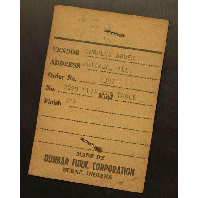 Edward Wormley #2299 Ebonized Walnut Flip-Top Game Table - Image 9 of 9
