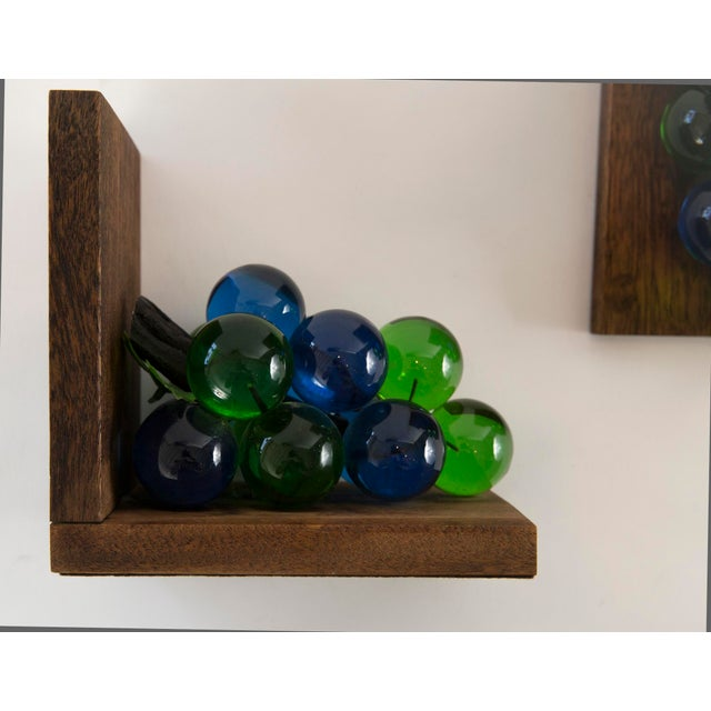 Image of Mid-Century Lucite Grape Bookends- A pair