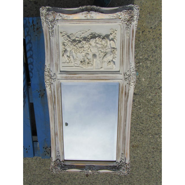 French Style Putti Trumeau Mirror - Image 7 of 9
