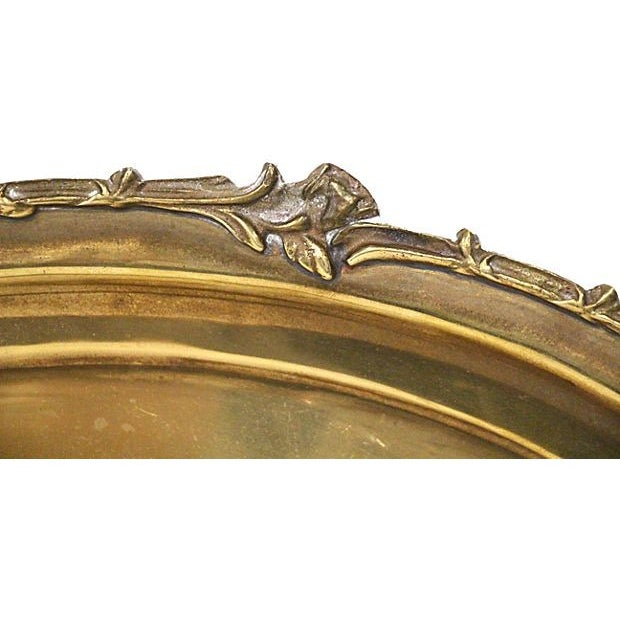 Brass Tray with Floral Rim - Image 5 of 5