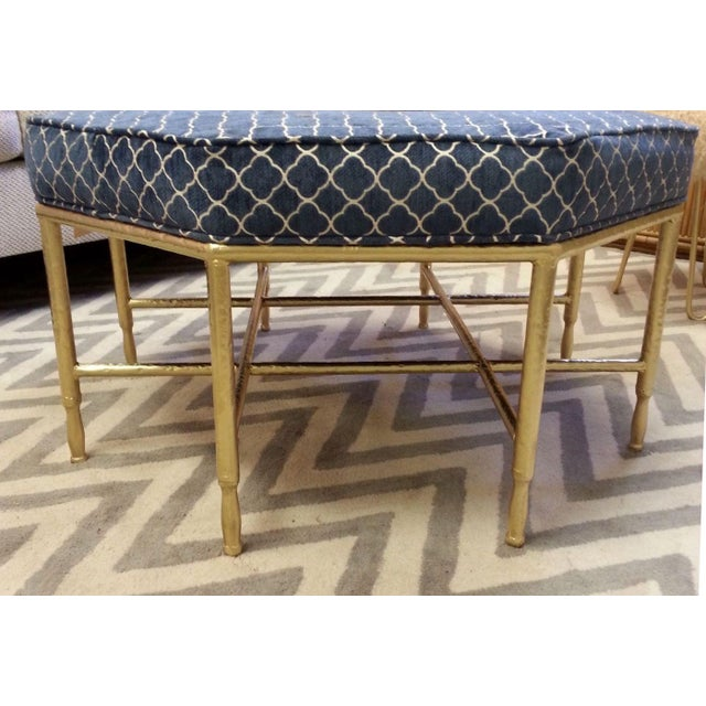 Hollywood Regency Octagon Ottoman - Image 2 of 4