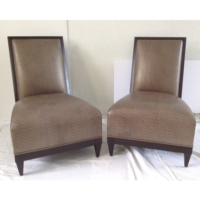 Donghia Panama Occasional Chairs - A Pair - Image 2 of 11