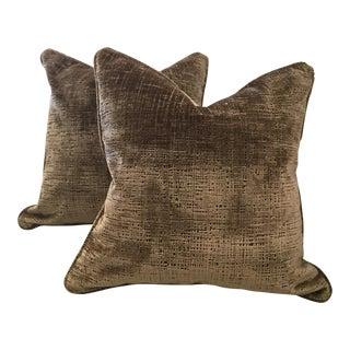 Holly Hunt Silk Velvet Pillows - A Pair