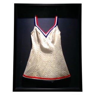 Framed Vintage Women's Tennis Style Swimsuit