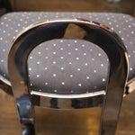 Image of Swaim Designs Chrome Upholstered Bar Stools - Set of 4