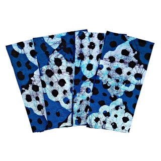 Blue Batik African Print Napkins & Table Runner Set