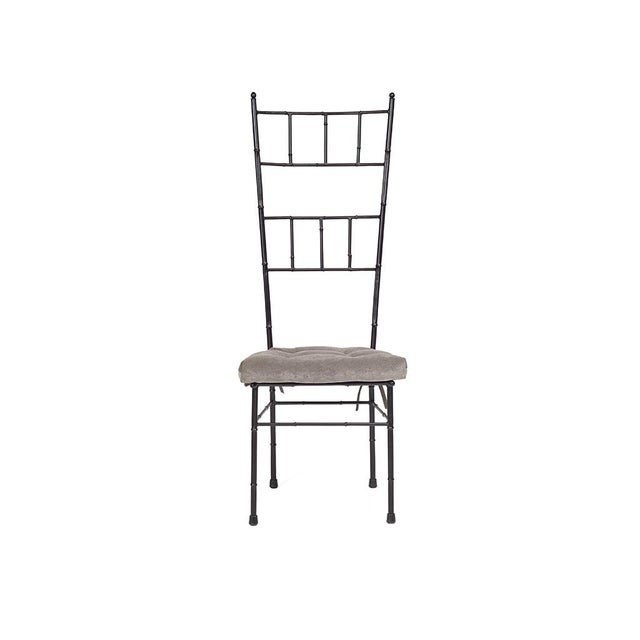 Black Faux Bamboo Dining Chairs - Set of 6 - Image 3 of 5