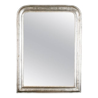 19th Century Louis Philippe Silver Leaf Wall Mirror